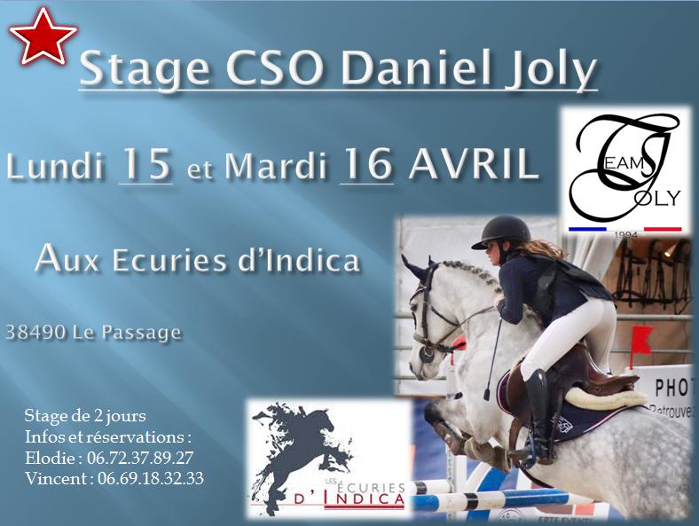 Stage Daniel Joly 15 et 16 AVRIL 2019
